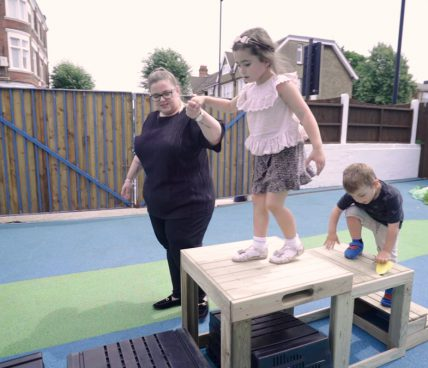 Winchmore Preschool Outdoor play area
